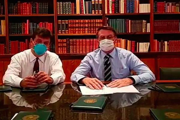 Bolsonaro diz que testou negativo para novo coronavírus